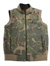 Jeep USS autumn Cargo Jackets Vest Men's Stand Collar Cotton Two Side Wear XL