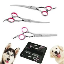 Pet Dog Grooming Scissors Tools Set Dog Straight Curved Thinning Shears Comb