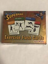 FitDeck Superman Exercise Playing Cards For Kids Ages4-16 50 Exercise Flash Crds