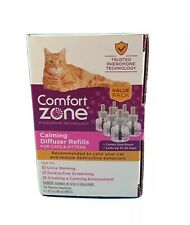 Comfort Zone Calming Diffuser Refill Only New Pheromones for Cats Formula 6 pk