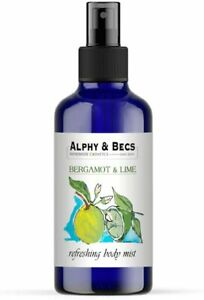 Body Spray Bergamot & Lime Body Mist Spray Alcohol free 100ml Handmade In UK