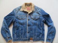Levi's Biker Jacke, Winter Jeansjacke, Gr. L, NEU ! Teddy Fell: Warm gefüttert !