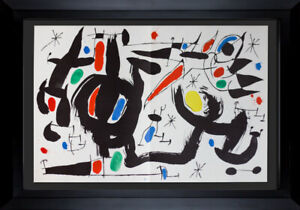Joan MIRO Limited Ed. ORIGINAL Lithograph 1968 Double Litho XL in Color w/Frame