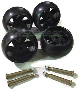 4 Pack Mower Deck Wheels with free Bolts 174873 133957 532174873