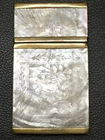 19TH CENTURY CHINA CHINESE MOTHER OF PEARL CASE BOX 古董珍珠母盒