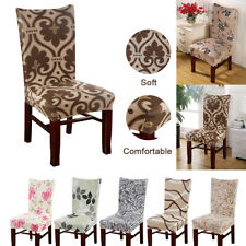Printed Dining Chair Cover Spandex Removable Chair Protector Slipcover Home