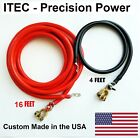 Battery Relocation Kit, # 2 AWG Cable, Top Post 16 FT RED / 4FT BLACK,USA MADE