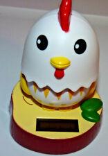 Happy little chicken solar dancing toy flip flap sun powered sunny jiggler