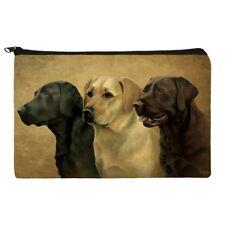 Labrador Retriever Trio Dogs Portrait Pencil Pen Organizer Zipper Pouch Case