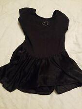 Just imagine Girls Dance Leotard W/ Skirt Black Sequin Heart 8/10