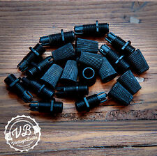 Vintage plastic cord grip #1 Black pendant strain relief cable lock 10mm