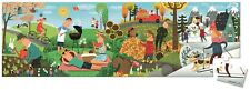 Janod HAT BOXED 36 PCS PANORAMIC PUZZLE - 4 SEASONS Wooden Toys Games BN
