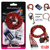 12 LED Flashing Lights for HSP TAMIYA CC01 4WD Axial SCX10 RC Drift Car Truck