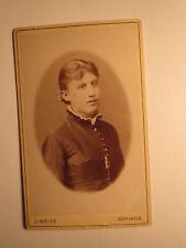 Mädchen - junge Frau - Portrait / CDV J. Weiss Göppingen