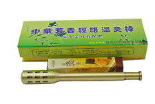 Traditional Small Pure Brass Moxa Roll Burner Stick Moxibustion Therapy Stick
