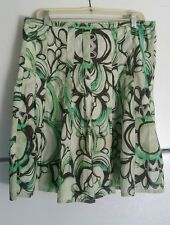 ESPRIT SZ 6 US  Multi Color Abstract  Print  100%  Cotton  Lined Skirt