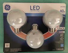 3x GE Lighting G25 Vanity Bulb 5-Watt LED 40-Watt replacement 350-Lumen 1 Pack