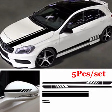 1 Set PVC Stripe Car Hood/Rearview Mirror/ Side Skirt Sticker Decal DIY Decor