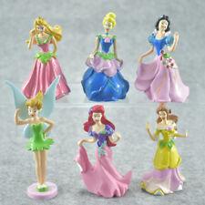 6pcs Disney Princess Figures Toy Display Cake Topper Kids Xmas Gift 7-8CM