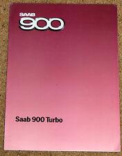 1984 SAAB 900 TURBO Sales Brochure - 3 Door, 4 Door, 5 Door