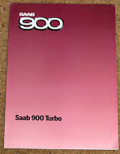 1984 SAAB 900 TURBO SALES BROCHURE - 3 porte, 4 ante, 5 PORTE