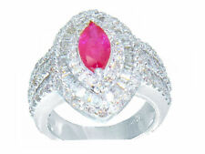 3,16 ct RUBY & DIAMOND RING in MIDAS ORO BIANCO