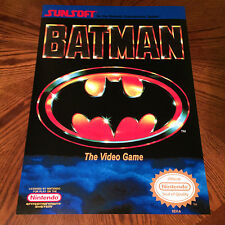 "BATMAN The Video Game NES box art retro 24"" poster print nintendo"