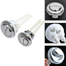 Dual Flush WC Toilet Water Tank Valve Push Button With 2 Rod 38mm Hole