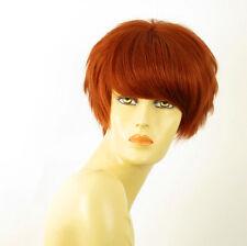 perruque femme 100% cheveux naturel courte cuivré intense ref BEATRICE 130
