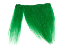 "CLIP-IN HUMAN HAIR FRINGE BANGS CYBERLOX APPLE GREEN UNCUT 8"""