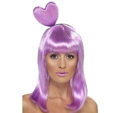 Femmes Candy Reine Perruque Déguisement & Coeur Lilas Katy en boîte détail