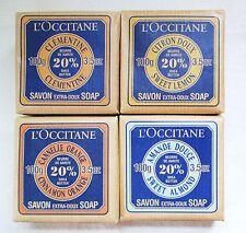 L'occitane SET Shea Soaps, 3.5 oz Sweet Almond, Clementine, Lemon, Cinn-Orange