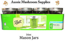Ball wide mouth Pint mason Jars case of 12 (500ml)