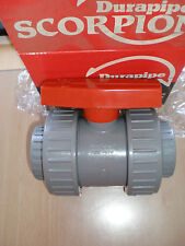 50mm Solvent Weld Ball Valve Double Union PVC Equivalent ABS