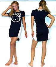 NWT Hello Kitty 'Varsity Hues' color block Lounge / Sleep Dress M,L,Navy/Ivory