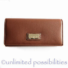 OROTON Kiera New Slim Clutch Genuine Leather Wallet Tan New Tags Box