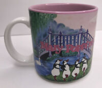 Vintage Mary Poppins Disney Store Coffee Mug Bert and Mary, Penguins