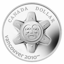 2010 'The Sun' Limited Edition High Relief Proof Silver Dollar $1 Canada Olympic