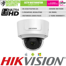 Hikvision 2.8-12MM Auto-Zoom 5MP VCA POE SD-CARD IR IP POE DOME TELECAMERA DI SICUREZZA