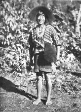 ASSAM. A Mishmi Tribesman;  bangles protection against sword cuts 1900 print