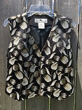 STATE LINE TACK Women's Horse Show Vest Size S Gold Black DRESSY Equestrian