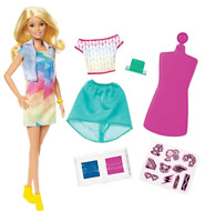 Barbie Crayola Color Stamp Fashions Set , Blonde Barbie Doll (Damaged Packaging)