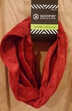 Isotoner Active Red Plush Soft Teddy Fur Fleece Smart Dri  Infinity Scarf - $40