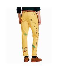 Polo Ralph Lauren Men Vtg Retro P Wing Artwork Graffiti Cartoons Corduroy Pants