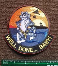 Usn Navy: F-14 Tomcat Patch Figher Jet Well Done Military Plane Patch