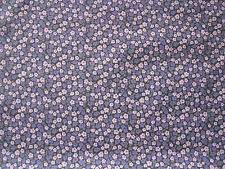 "LIBERTY OF LONDON TANA LAWN FABRIC  ""Penny D"" 2 METRES  PURPLES AND PINKS"