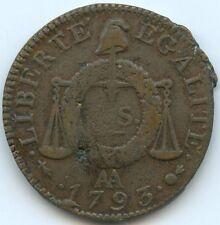 Convention Sol à la balance An II 1793 AA Metz