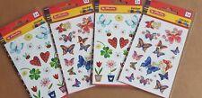 4 Packungen ( 8 Bögen) Schmetterlinge Sticker Aufkleber