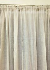 French Country Hamptons Chic Curtains Linen Unlined Rod Pocket 2x140x240cm