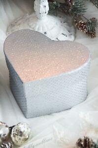 Geschenkkarton Kartonage Geschenkbox Geschenverpackung Herz Weihnachten Shabby k